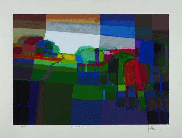 Ingelijste zeefdruk Ton Schulten 'In volle bloei, 1999'